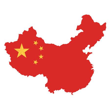 Vettore della priorità bassa bianca della mappa della Repubblica popolare cinese Vettoriali