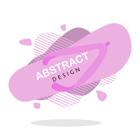 abstract liquid shape with summer flip flops vector Standard-Bild - 124518224