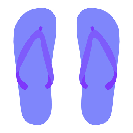 isolated flip flops on the white background vector Standard-Bild - 124518226
