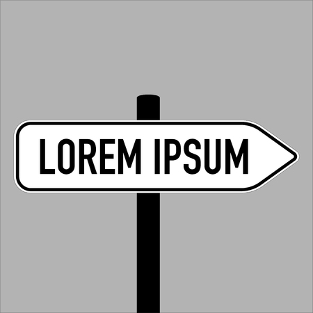 isolated sign displaying name of the place vector