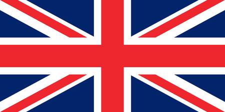flag of the great britain original proportions vector Standard-Bild - 124518235