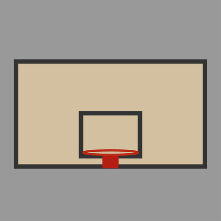 basket shield and ring for the basketball vector Standard-Bild - 124518248