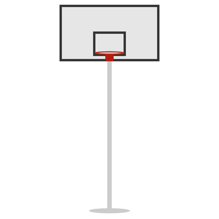basket shield and ring for the basketball vector Vettoriali