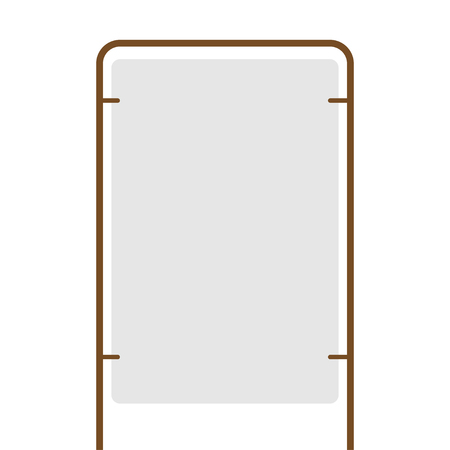 outdoor blank advertising stand with the frame vector Standard-Bild - 124518244