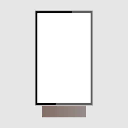 realistic outdoor lightbox isolated on white background vector Standard-Bild - 124518246