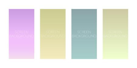 set of gradient backgrounds for device screen vector Standard-Bild - 124518251