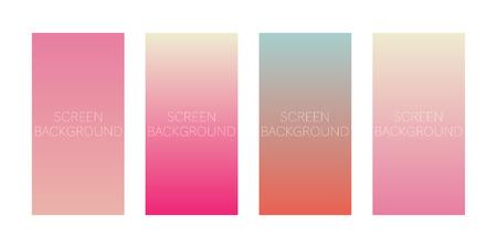 set of gradient backgrounds for device screen vector Standard-Bild - 124518249