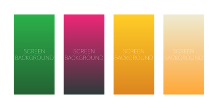set of gradient backgrounds for device screen vector Standard-Bild - 124518254