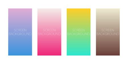 set of gradient backgrounds for device screen vector Standard-Bild - 124518252