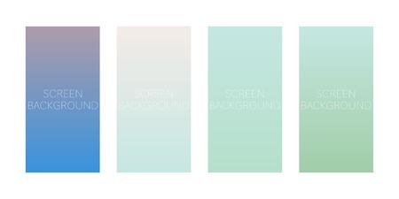 set of gradient backgrounds for device screen vector Standard-Bild - 124518253