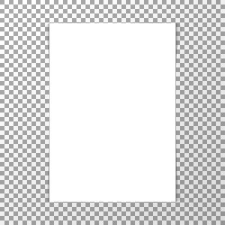 blank realistic white sheet of paper mockup vector Standard-Bild - 124518256