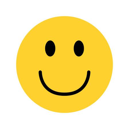 Smiley gelbes Gesicht Emoji auf weißem Hintergrundvektor Vektorgrafik