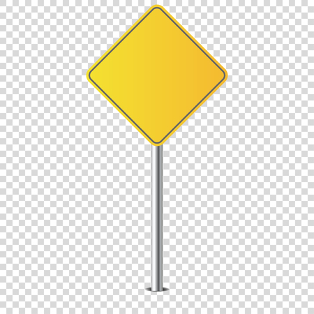 metal road sign isolated blank for you vector Standard-Bild - 124518263