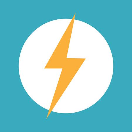 thunderbolt yellow lightning icon energy concept vector Standard-Bild - 124518267