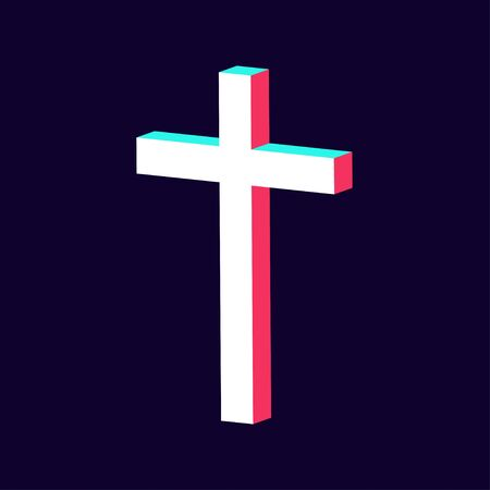 modern cross icon made in 3d isolated vector  イラスト・ベクター素材