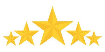 five golden stars rating showing best quality vector Standard-Bild - 124804994