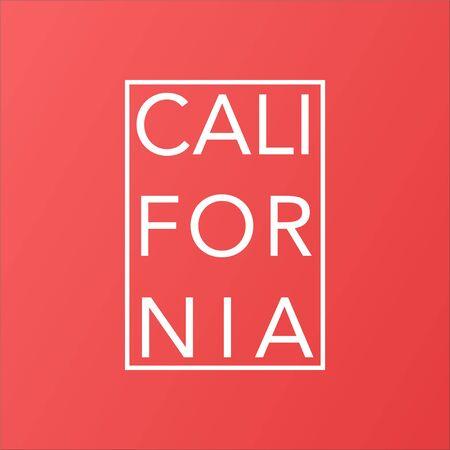 california state on living coral modern background vector Standard-Bild - 124804999