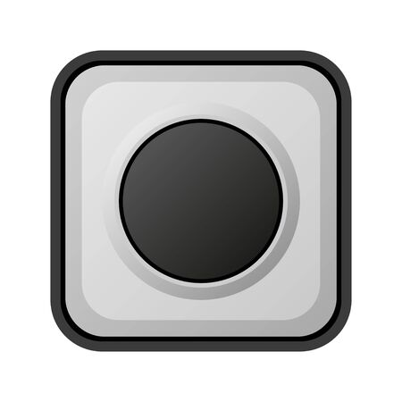 door bell realistic button on white background vector