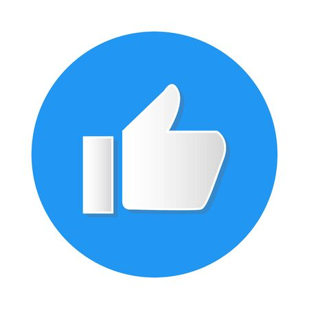 social media like icon on white background vector Standard-Bild - 124805072