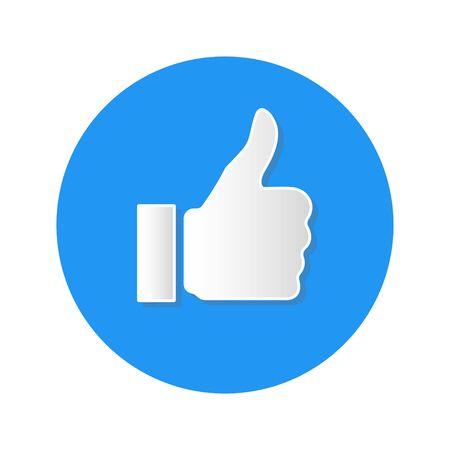 social media like icon on white background vector