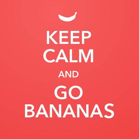british motivational poster replica with banana joke vector Standard-Bild - 124804670