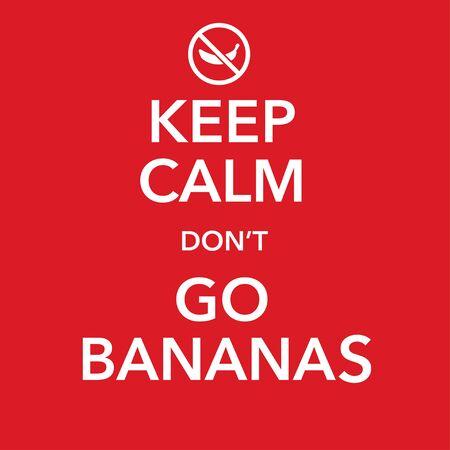 british motivational poster replica with banana joke vector Standard-Bild - 124805051