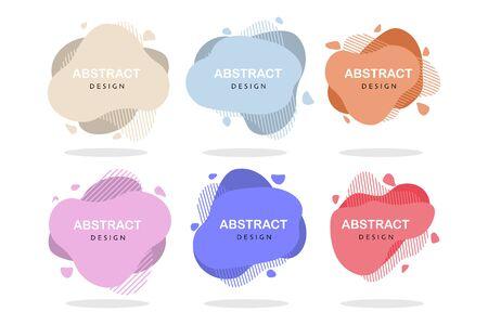 set of abstract design liquid color shapes vector Standard-Bild - 124805052