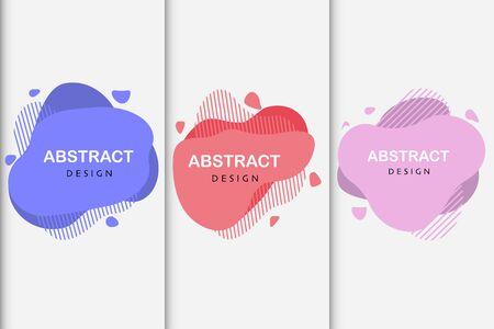 set of abstract design liquid color shapes vector Standard-Bild - 124805053