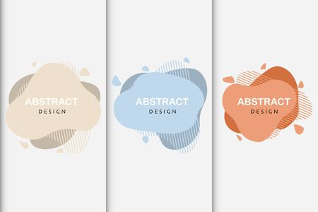 set of abstract design liquid color shapes vector Standard-Bild - 124805054