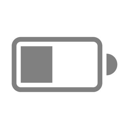 plain electric battery icon on white background vector Standard-Bild - 124805042