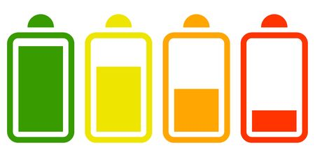 plain electric battery icon on white background vector Standard-Bild - 124805017