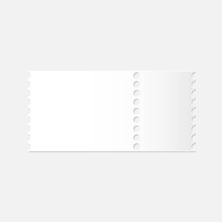 realistic mockup of detachable blank white ticket vector Standard-Bild - 124805021