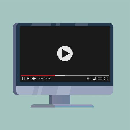 classic video player for internet steam vector illustration Illustration