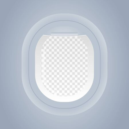 plane window isolated view from inside vector illustration Standard-Bild - 124805058