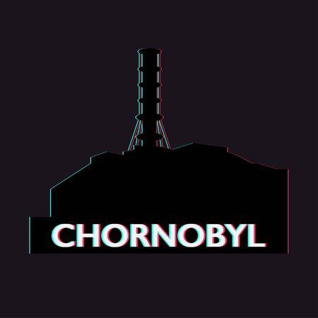 chornobyl nuclear power plant ecology catastrophe vector illustration