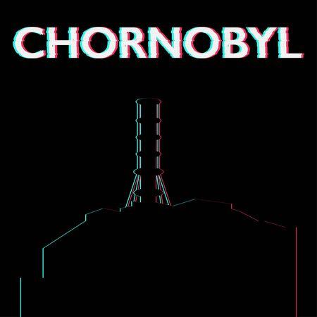 chornobyl nuclear power plant ecology catastrophe vector illustration Standard-Bild - 124805061