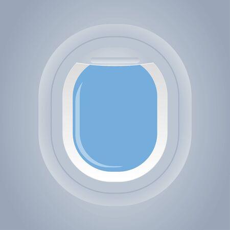 okno samolotu izolowane widok od wewnątrz ilustracji wektorowych Ilustracje wektorowe