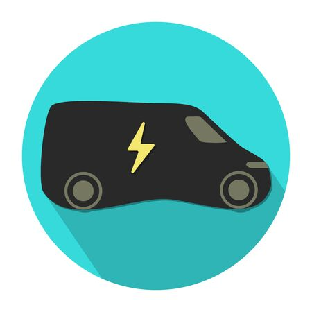 electric eco vehicle icon flat design vector illustration Çizim