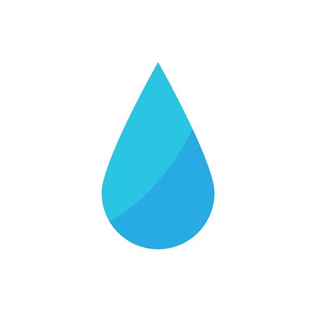 water drop flat design white background vector illustration  イラスト・ベクター素材