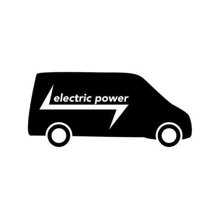 electric eco vehicle icon white background vector illustration Stock Illustratie