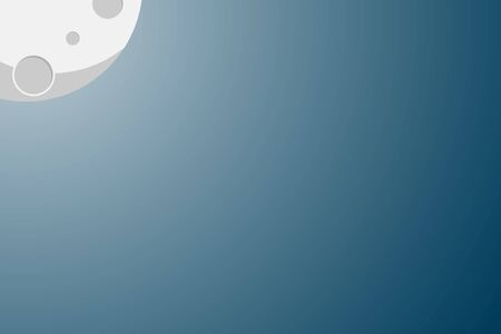 full moon light night dark background vector illustration