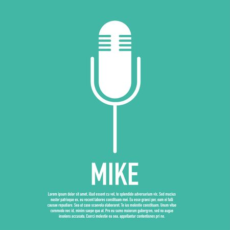 mike isolated icon on the stand vector illustration