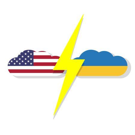kiev, ukraine 25 september 2019, usa and ukraine presidents scandal concept vector illustration