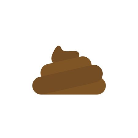 shit or poo icon creative concept vector illustration