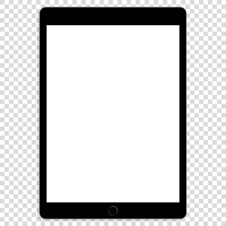 realistic modern touchscreen tablet mock up vector illustration