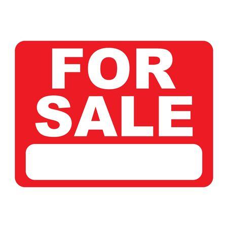 for sale sign on red background vector illustration Çizim