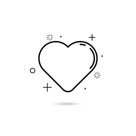 modern design heart icon love concept vector illustration Ilustração