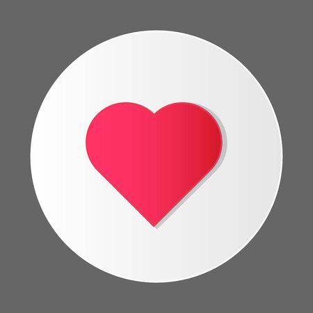 modern design heart icon love concept vector illustration Illustration