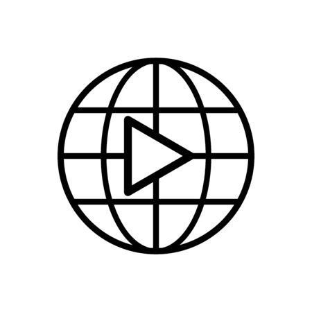 Globe sign. Social media video frame. vector illustration Archivio Fotografico - 131358666