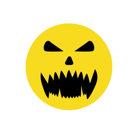 Halloween smile face, great design for any purposes. Ilustração